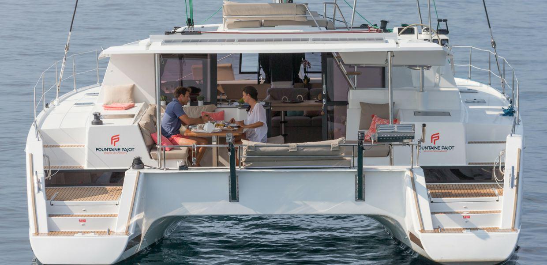 Helia 44 luxury sailing charter cat catamaran seychelles boat yacht summer holidays modern