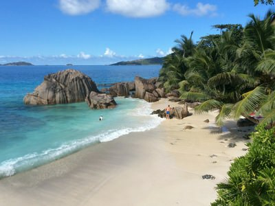 top beach beaches anse mahe praslin digue sand water luxury catamaran sailing