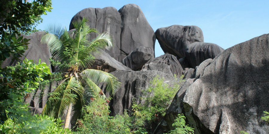 palm rocks summit peak mountain seychelles hike hiking charter catamaran luxury sailing