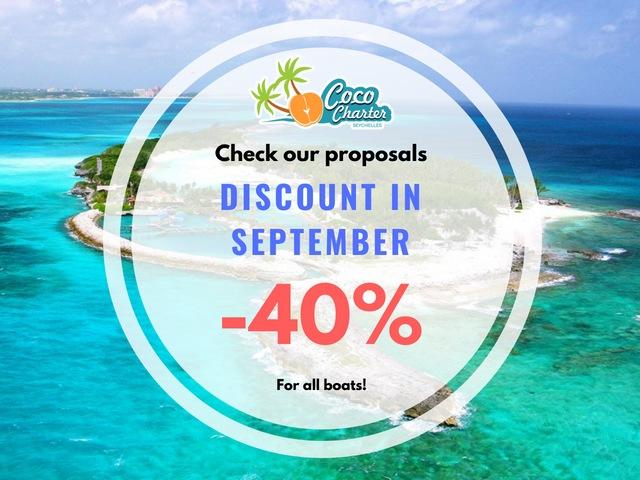 Coco Charter Seychelles - Discounts