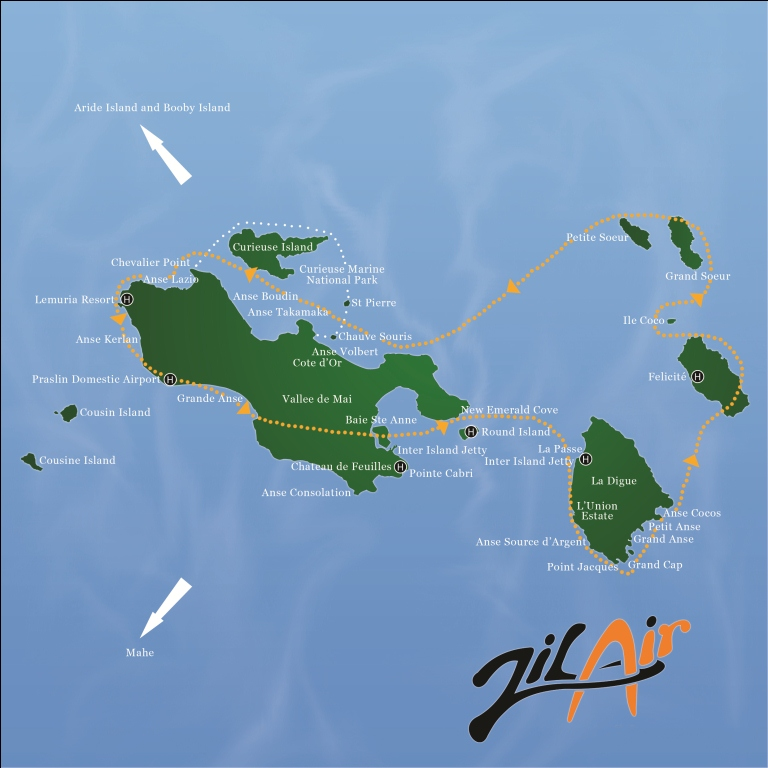 Zil Air – Coco Charter Zil On World Map on